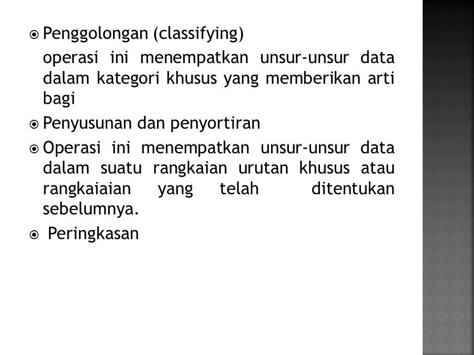 Penggolongan (classifying)