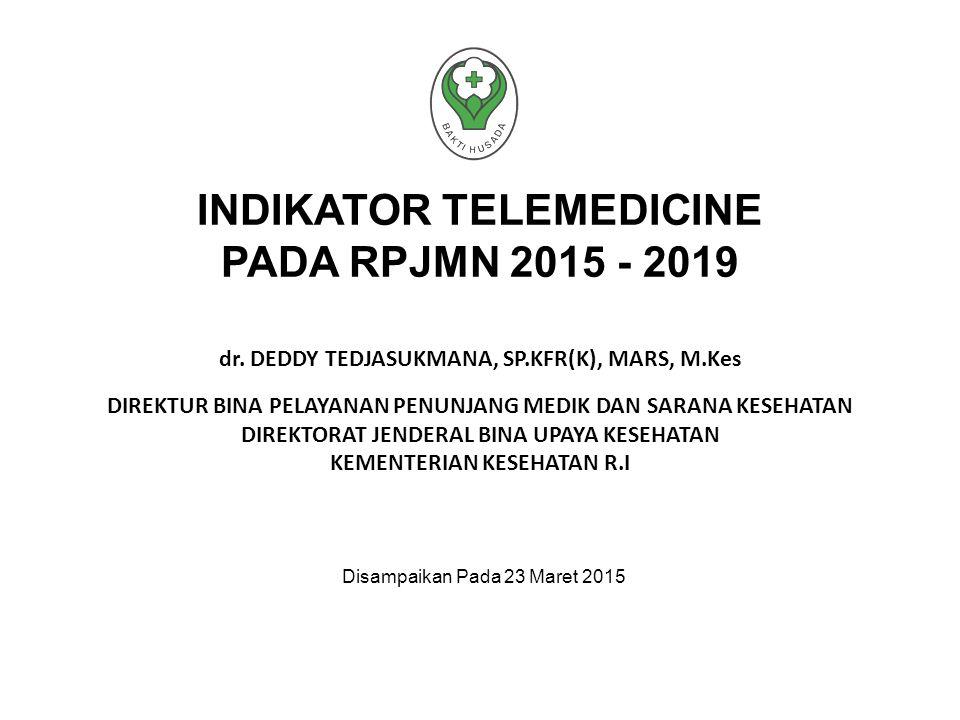 INDIKATOR TELEMEDICINE PADA RPJMN 2015 - 2019