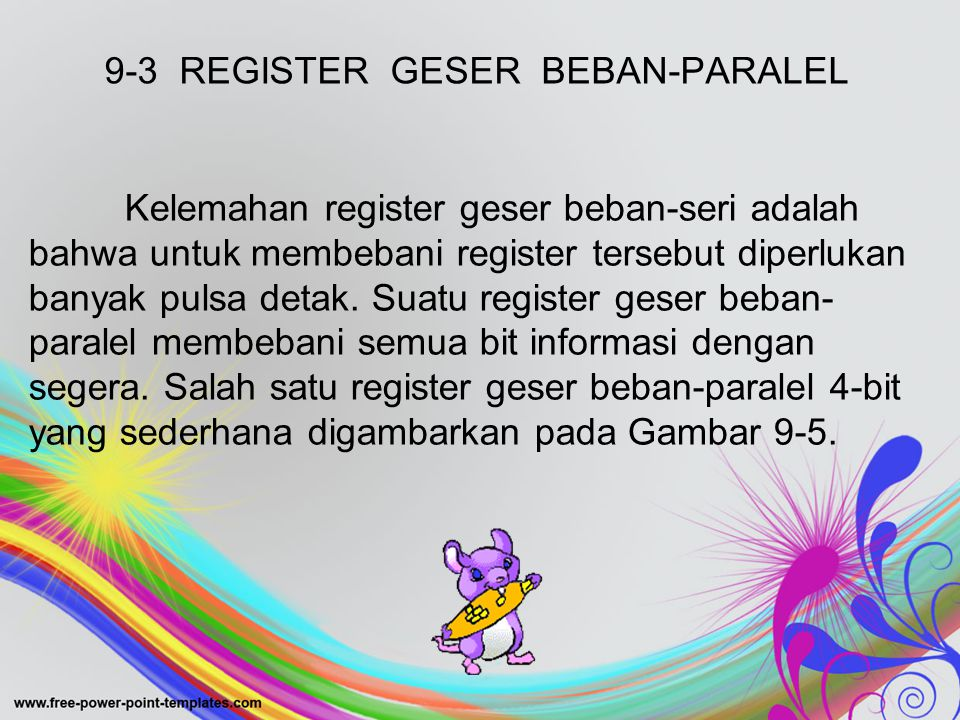 9-3 REGISTER GESER BEBAN-PARALEL