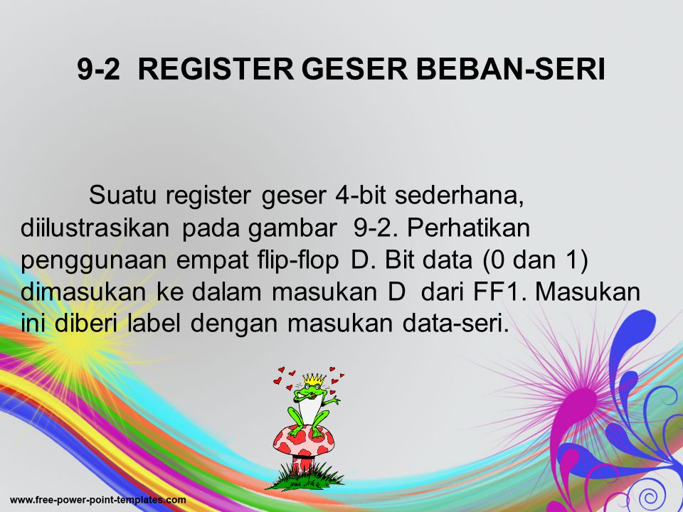 9-2 REGISTER GESER BEBAN-SERI