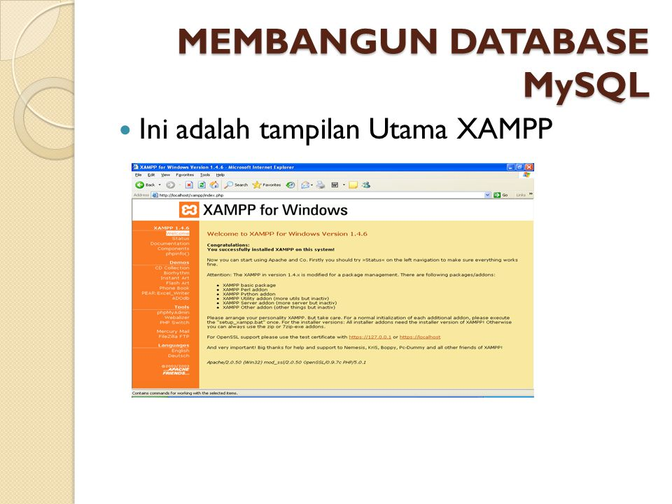 MEMBANGUN DATABASE MySQL