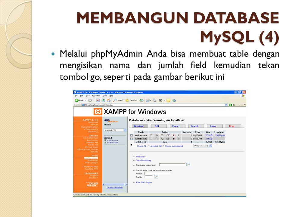MEMBANGUN DATABASE MySQL (4)