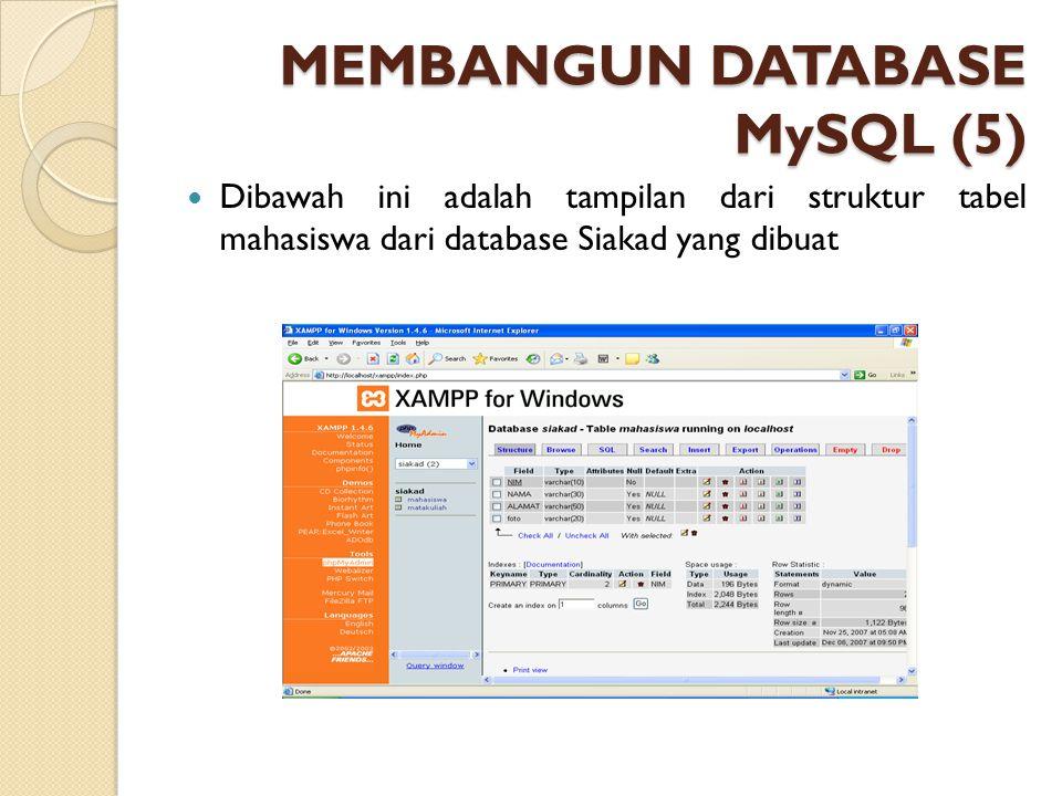 MEMBANGUN DATABASE MySQL (5)