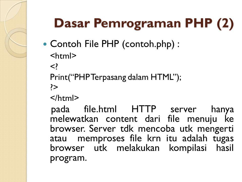 Dasar Pemrograman PHP (2)