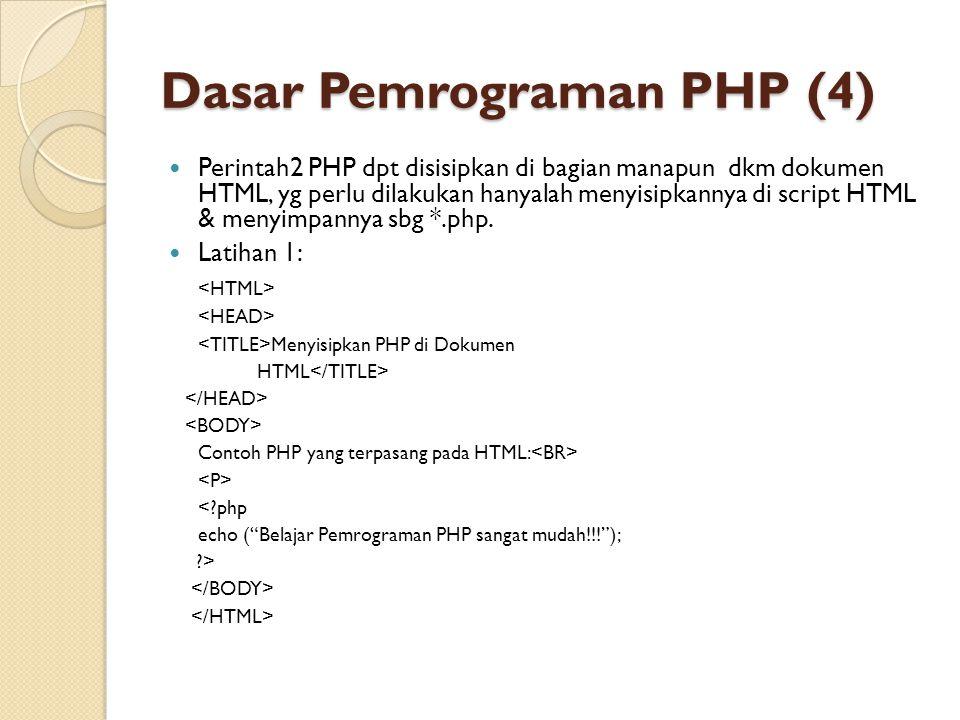 Dasar Pemrograman PHP (4)