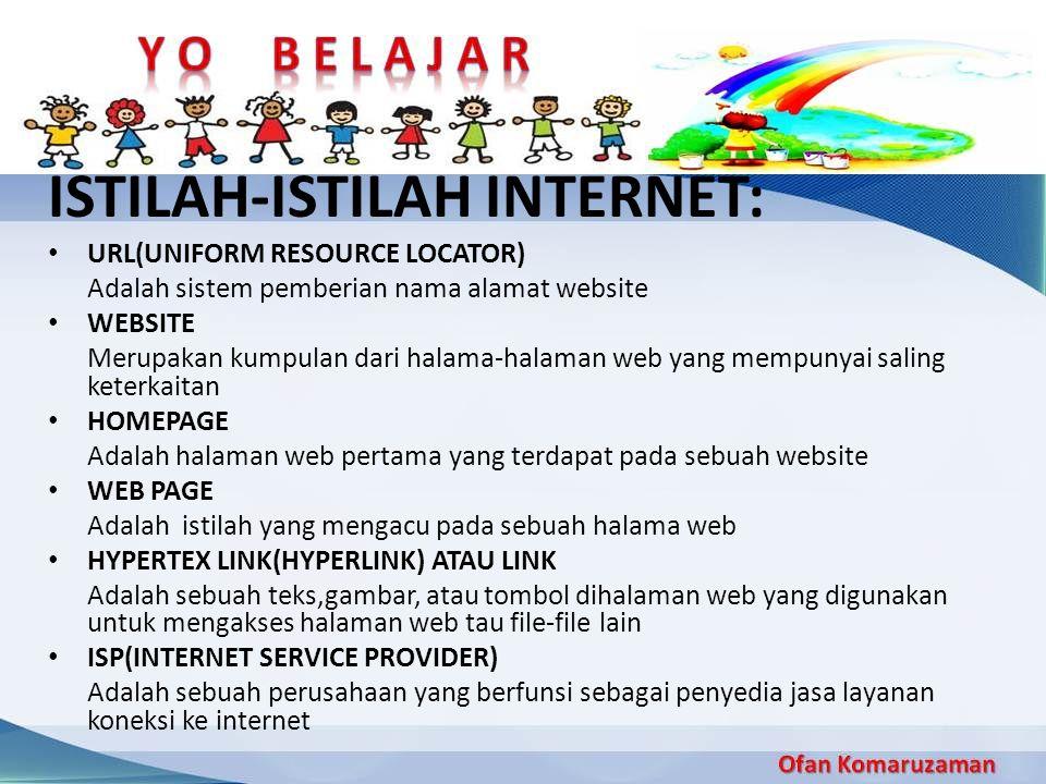 ISTILAH-ISTILAH INTERNET: