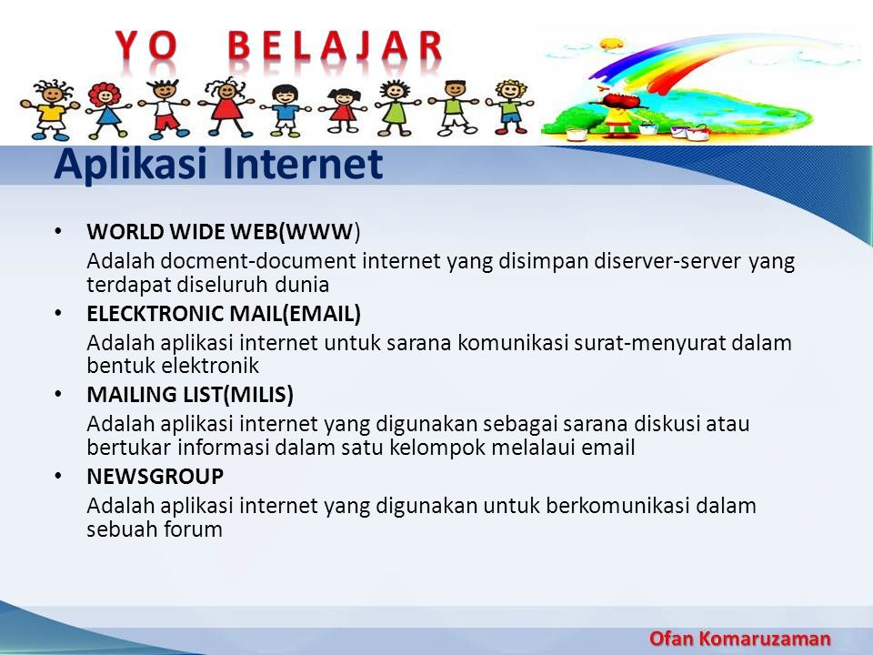 Aplikasi Internet WORLD WIDE WEB(WWW)