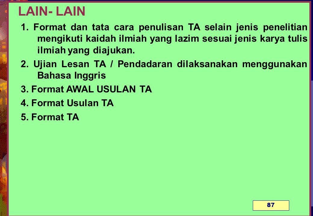 LAIN- LAIN