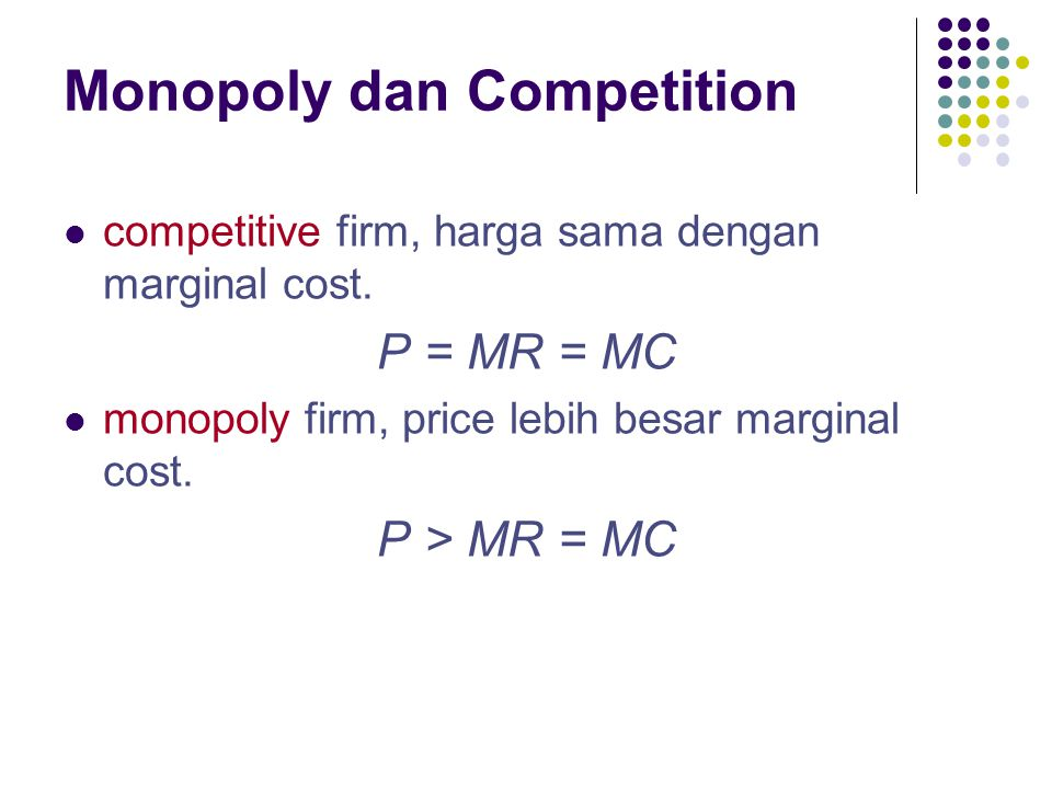 Monopoly dan Competition
