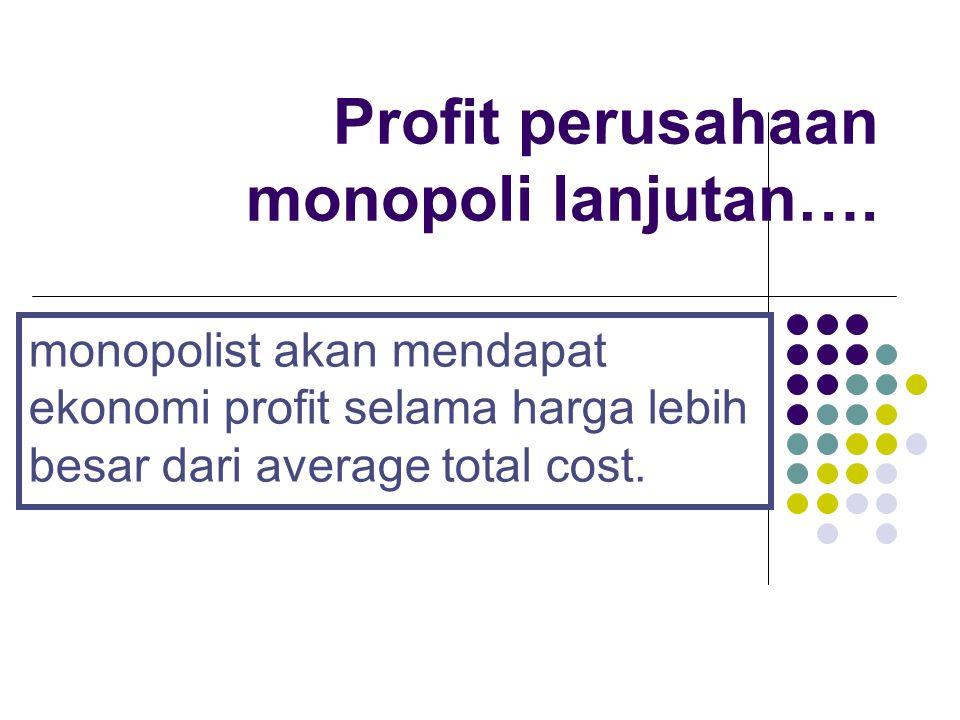 Profit perusahaan monopoli lanjutan….