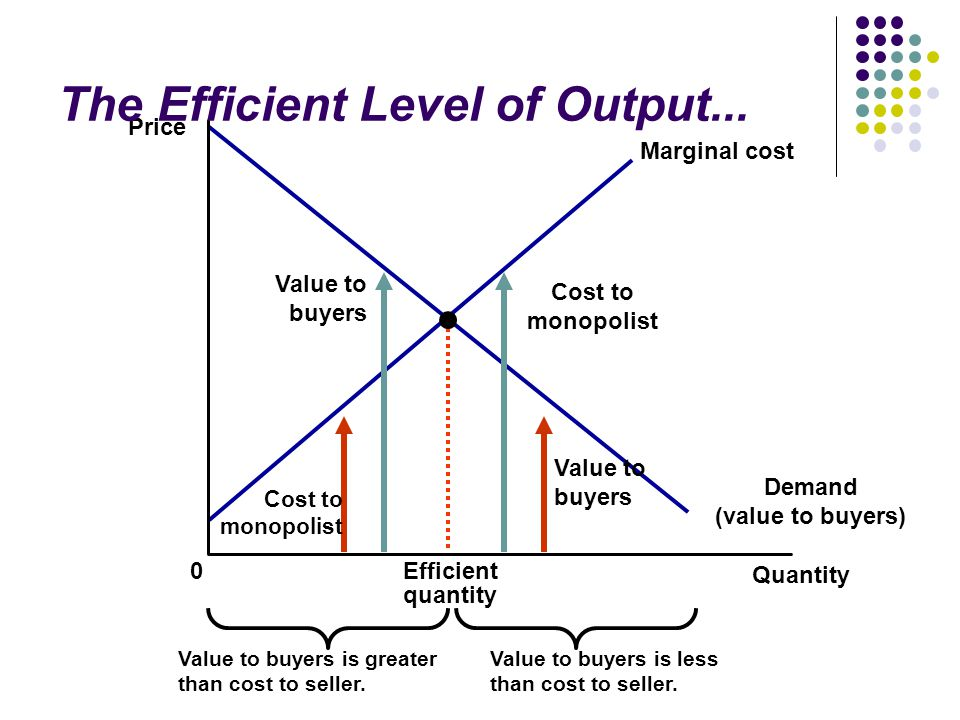 The Efficient Level of Output...