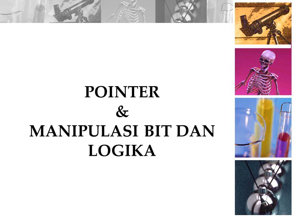 POINTER & MANIPULASI BIT DAN LOGIKA