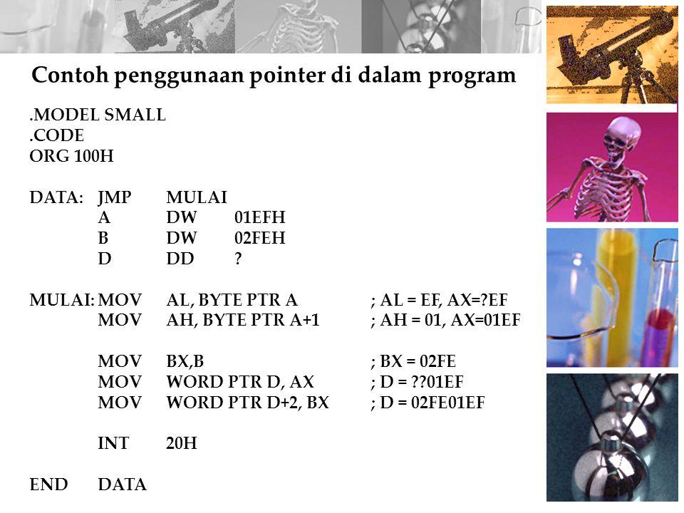 Contoh penggunaan pointer di dalam program