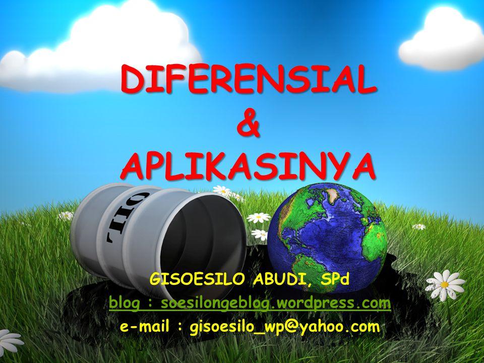 DIFERENSIAL & APLIKASINYA