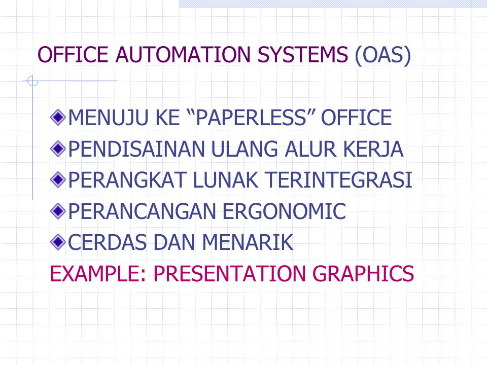 OFFICE AUTOMATION SYSTEMS (OAS)