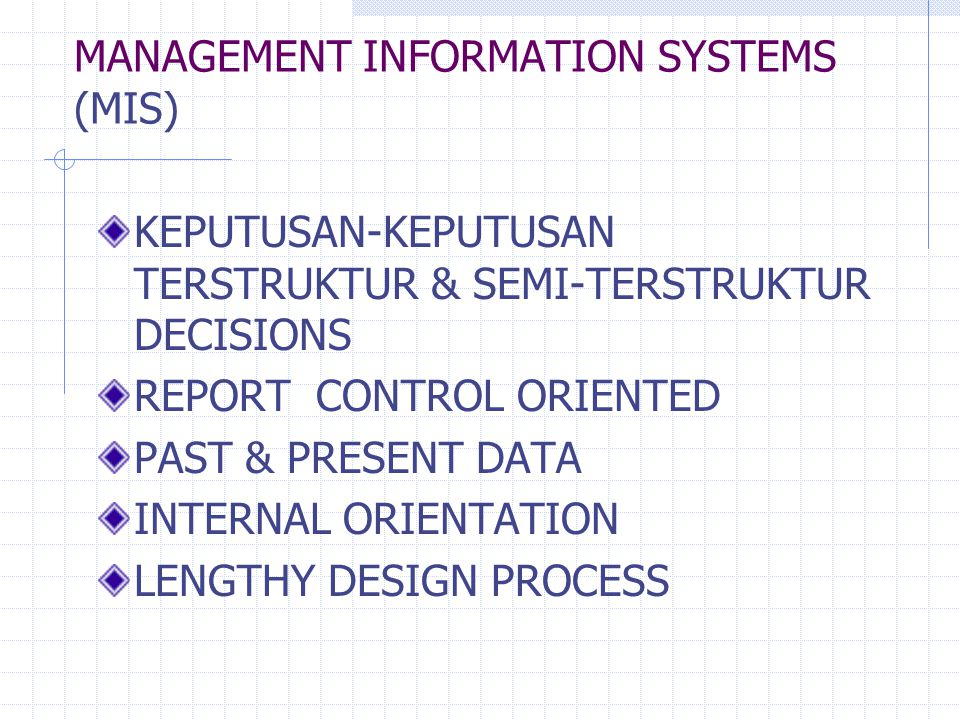 MANAGEMENT INFORMATION SYSTEMS (MIS)
