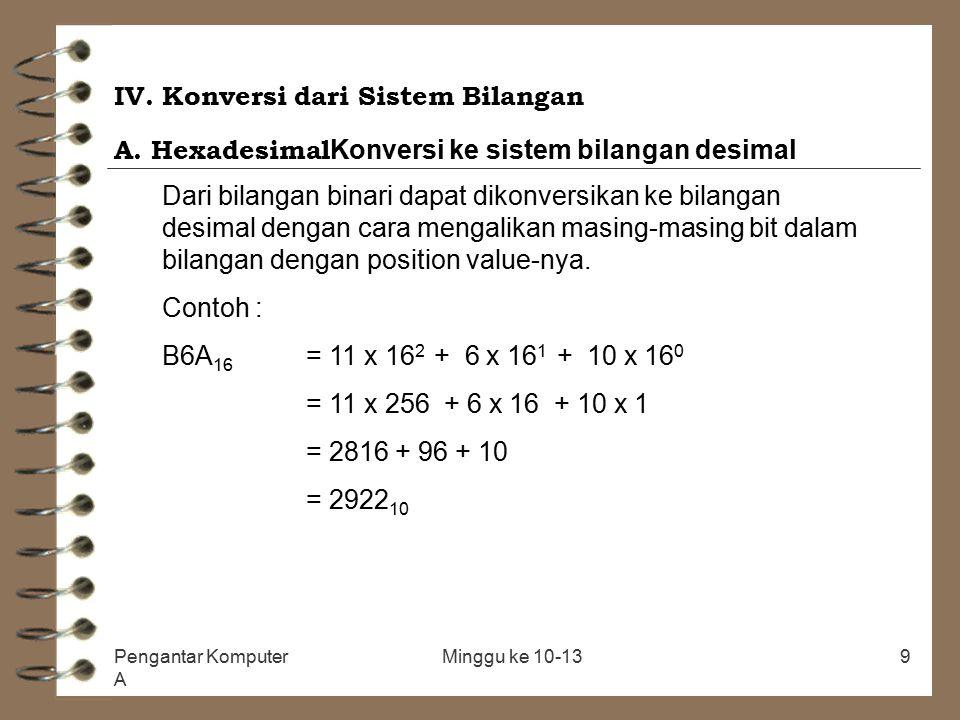 IV. Konversi dari Sistem Bilangan