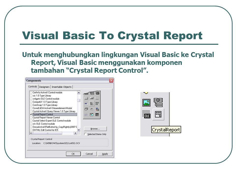 Visual Basic To Crystal Report