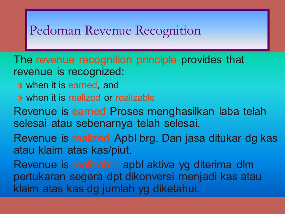 Pedoman Revenue Recognition