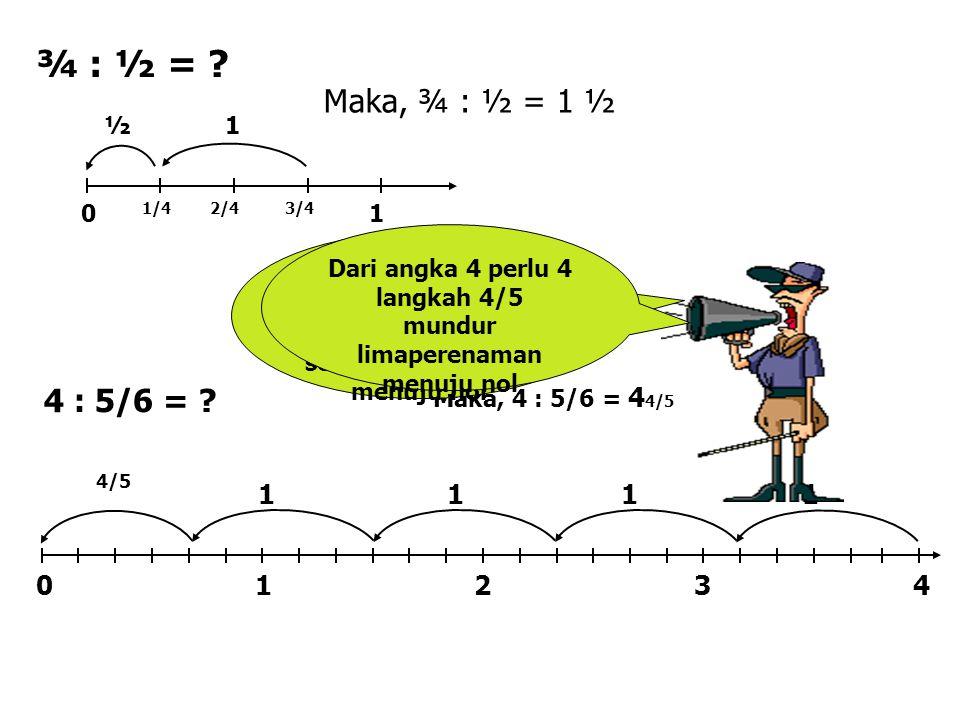 Dari angka 4 perlu 4 langkah 4/5 mundur limaperenaman menuju nol