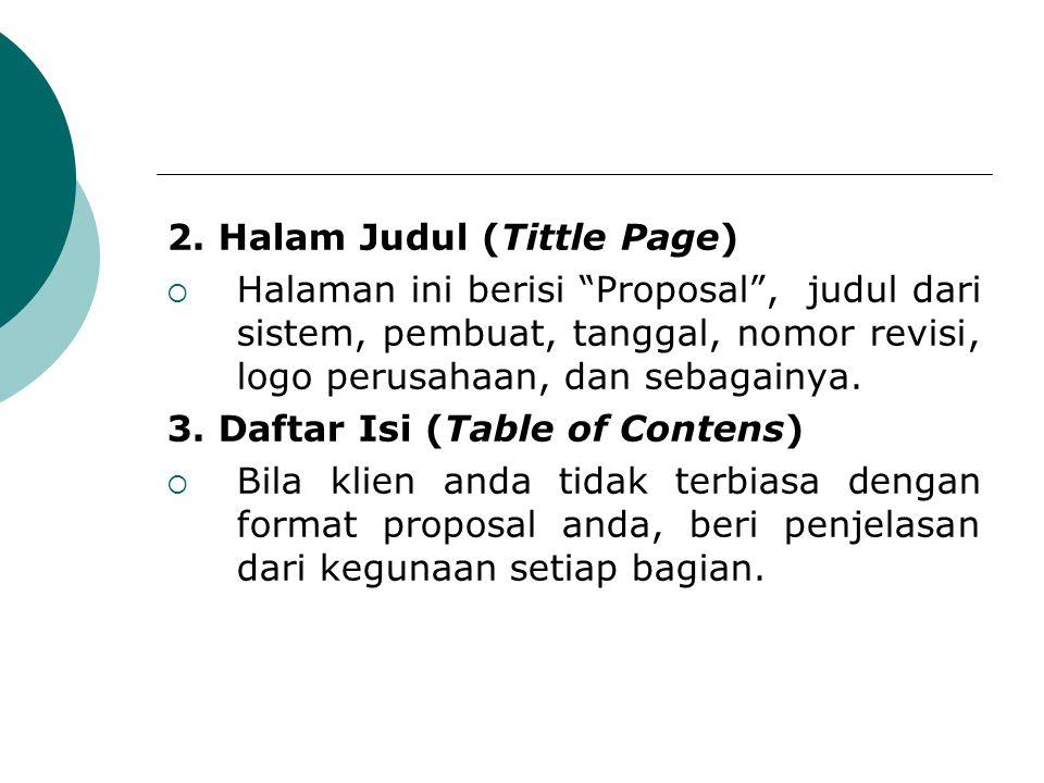 2. Halam Judul (Tittle Page)