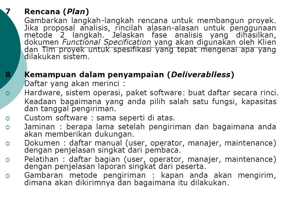 7 Rencana (Plan)