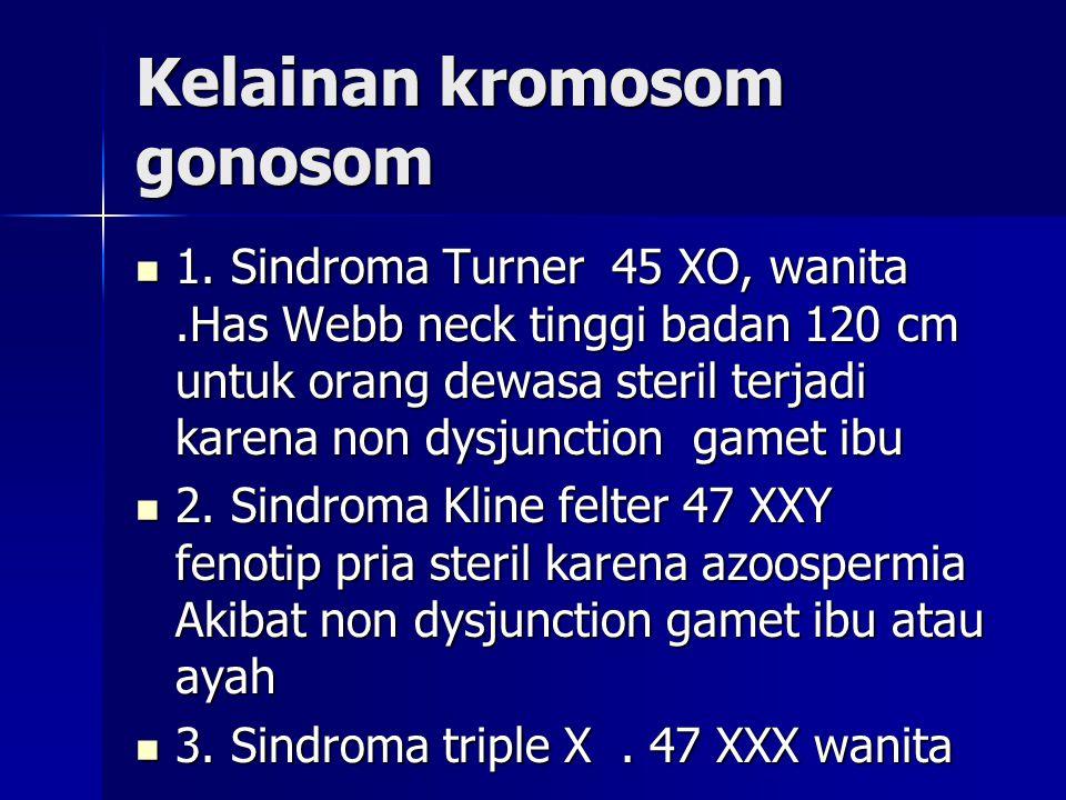 Kelainan kromosom gonosom