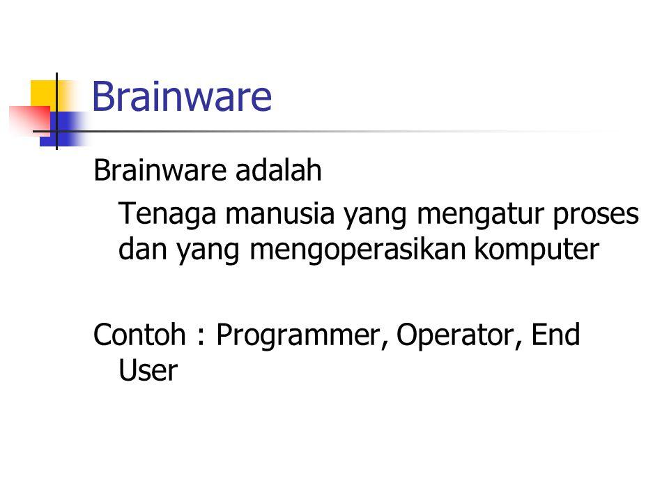 Brainware Brainware adalah