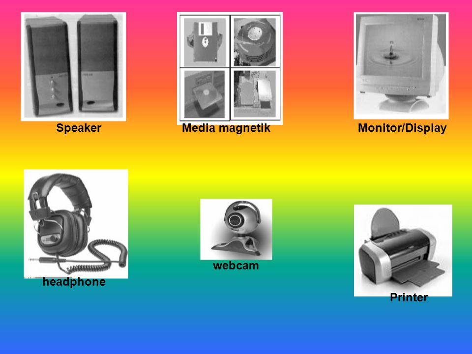 Speaker Media magnetik Monitor/Display webcam headphone Printer