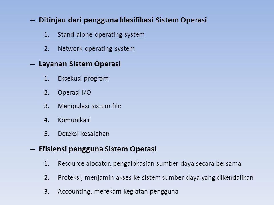 Ditinjau dari pengguna klasifikasi Sistem Operasi