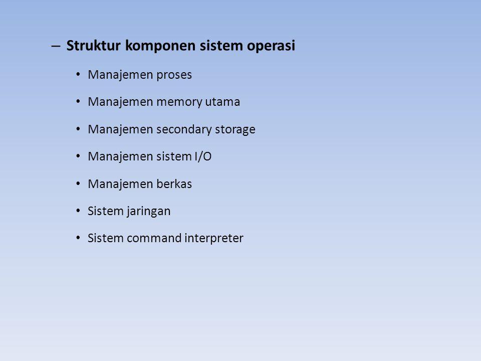 Struktur komponen sistem operasi