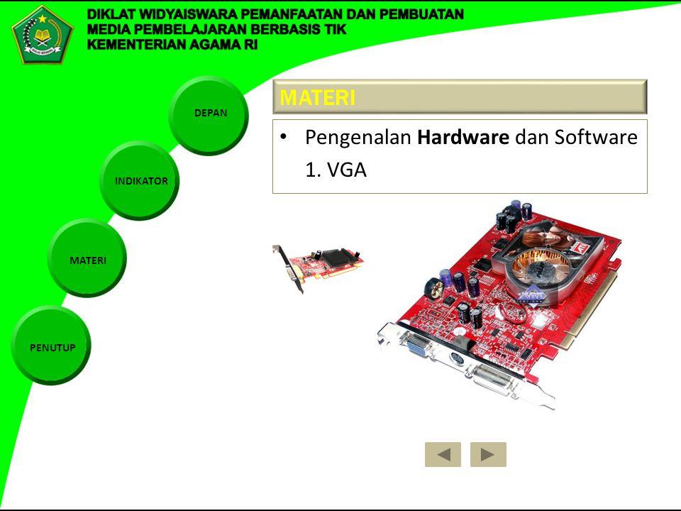 MATERI Pengenalan Hardware dan Software 1. VGA