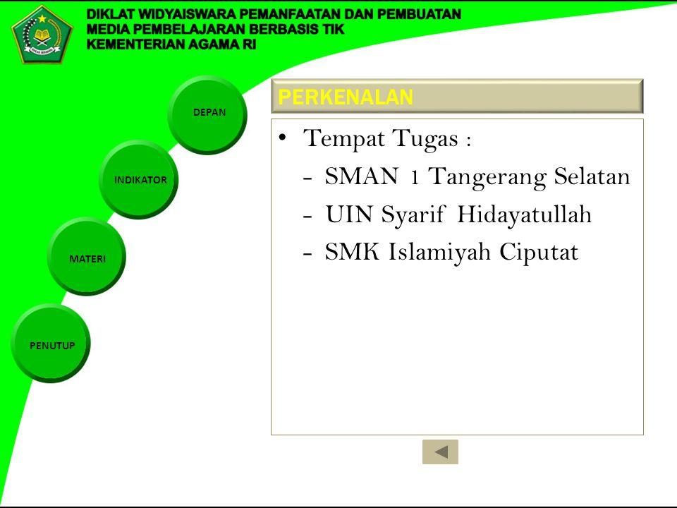 - SMAN 1 Tangerang Selatan - UIN Syarif Hidayatullah