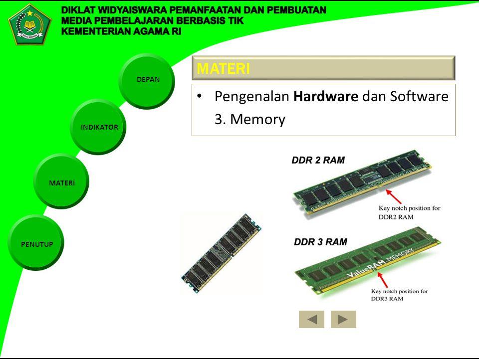 MATERI Pengenalan Hardware dan Software 3. Memory