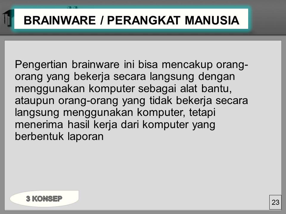 BRAINWARE / PERANGKAT MANUSIA