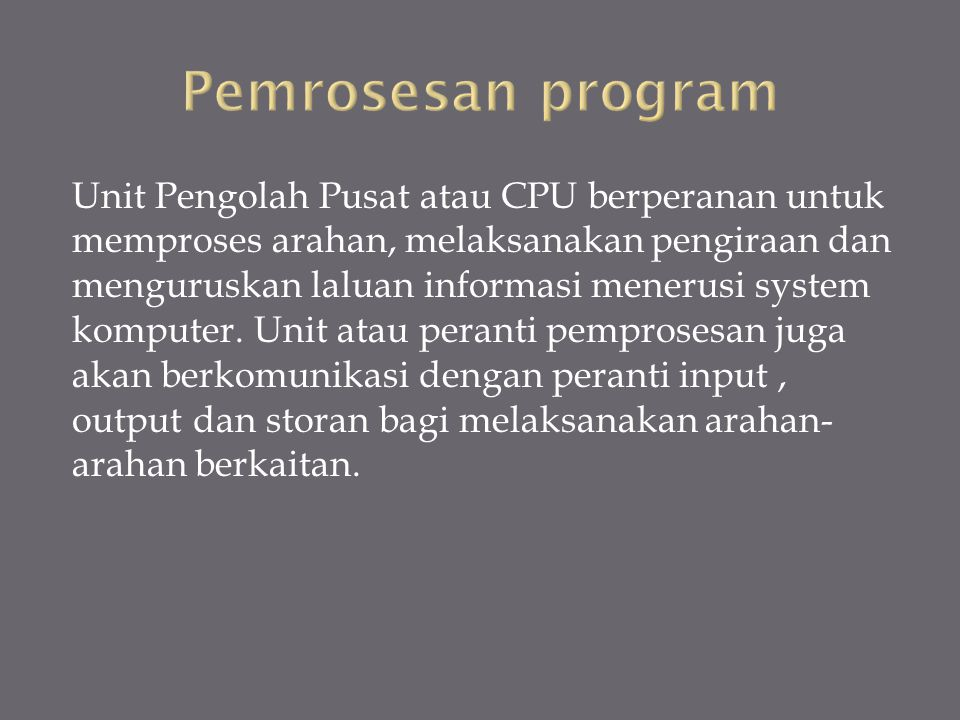Pemrosesan program