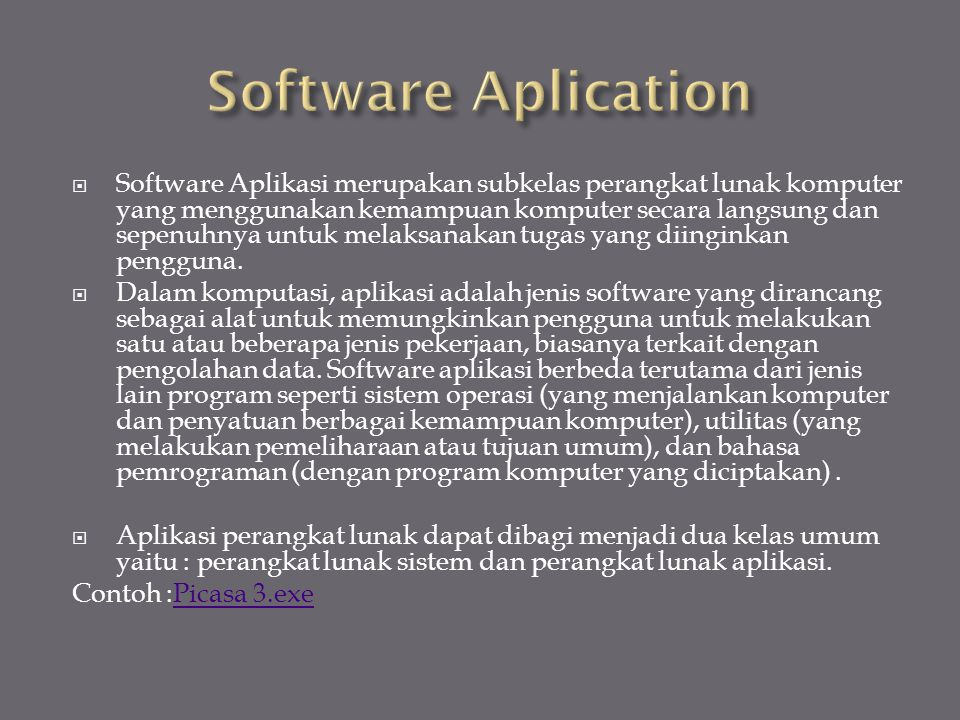 Software Aplication