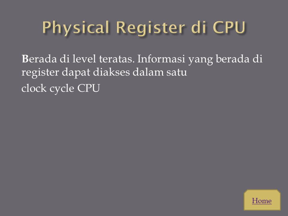 Physical Register di CPU