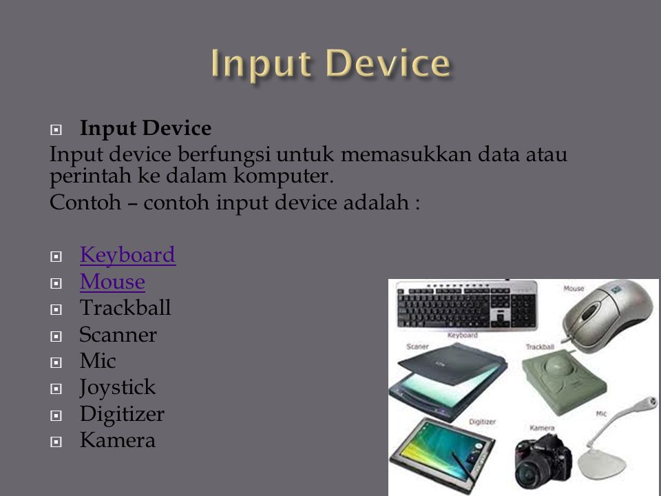 Input Device Input Device