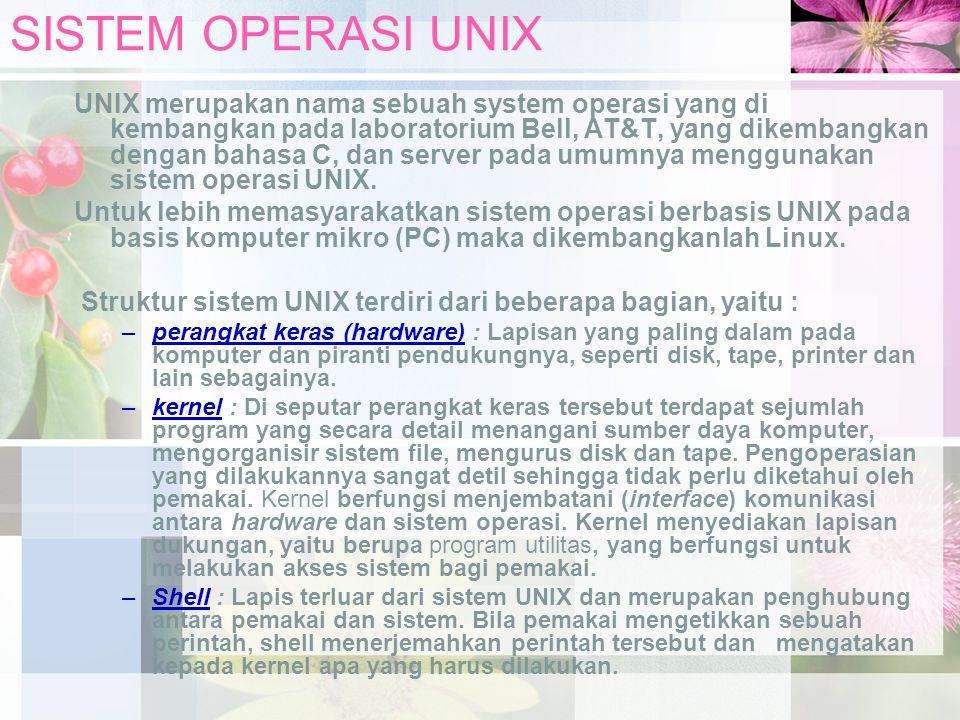 SISTEM OPERASI UNIX