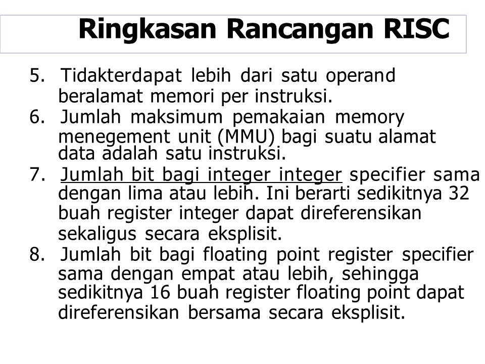 Ringkasan Rancangan RISC