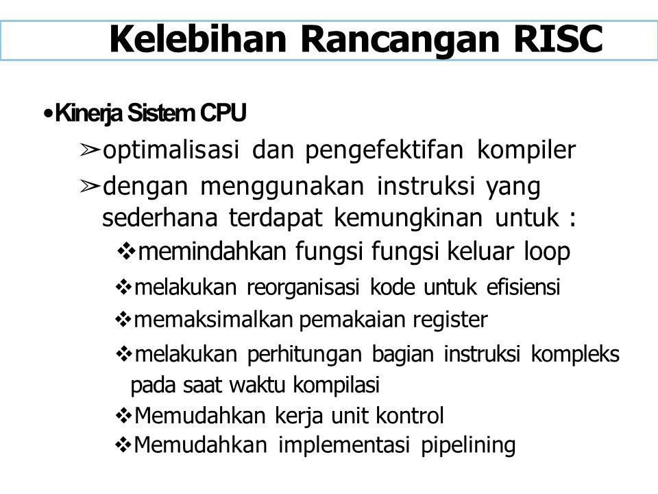 Kelebihan Rancangan RISC