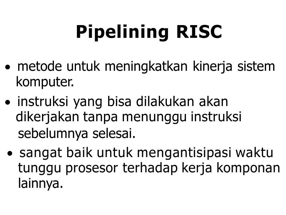 Pipelining RISC metode untuk meningkatkan kinerja sistem komputer.