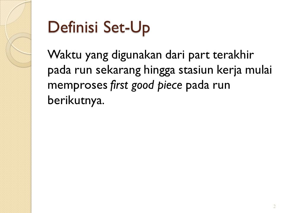 Definisi Set-Up