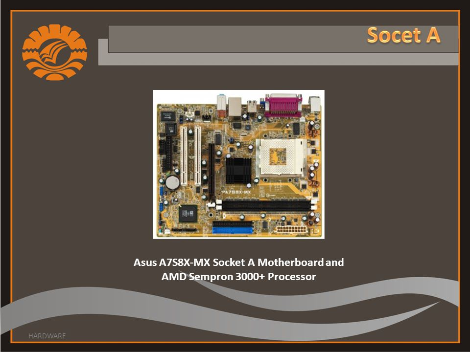 Asus A7S8X-MX Socket A Motherboard and AMD Sempron 3000+ Processor