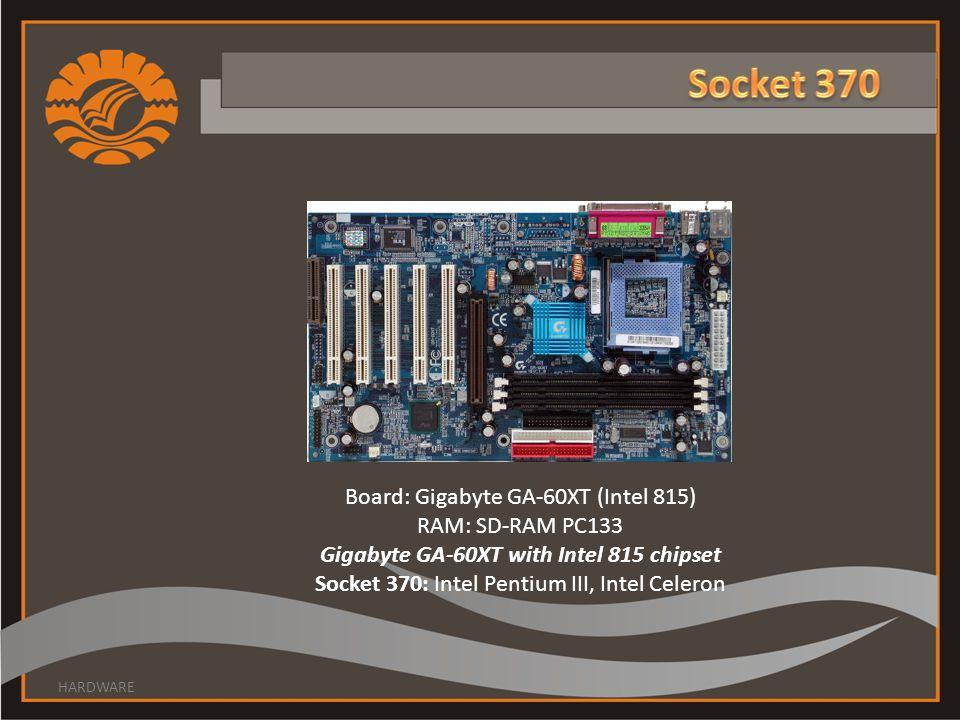 Gigabyte GA-60XT with Intel 815 chipset