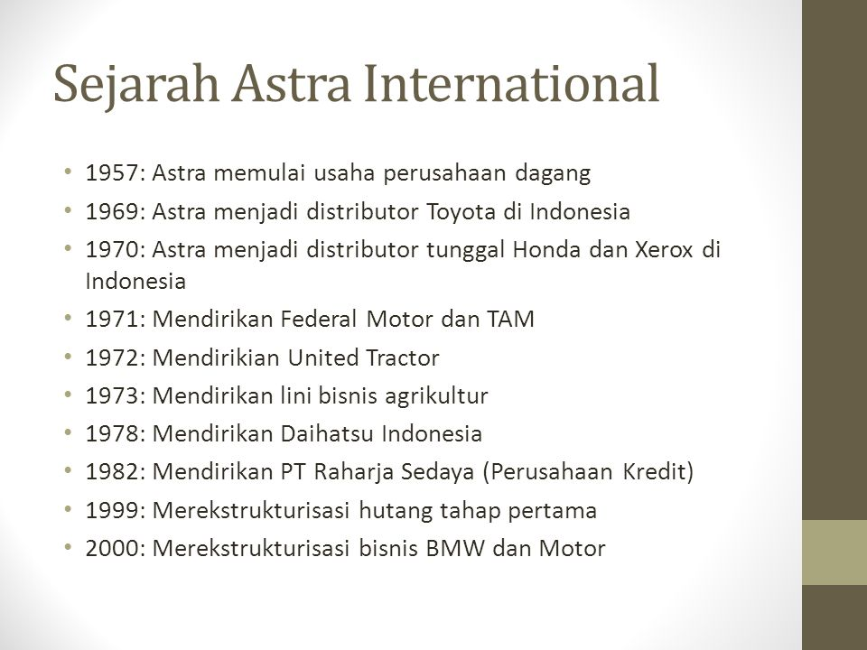 Sejarah Astra International