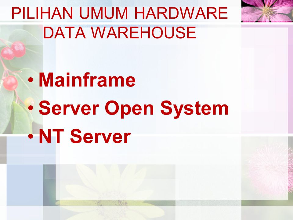 PILIHAN UMUM HARDWARE DATA WAREHOUSE