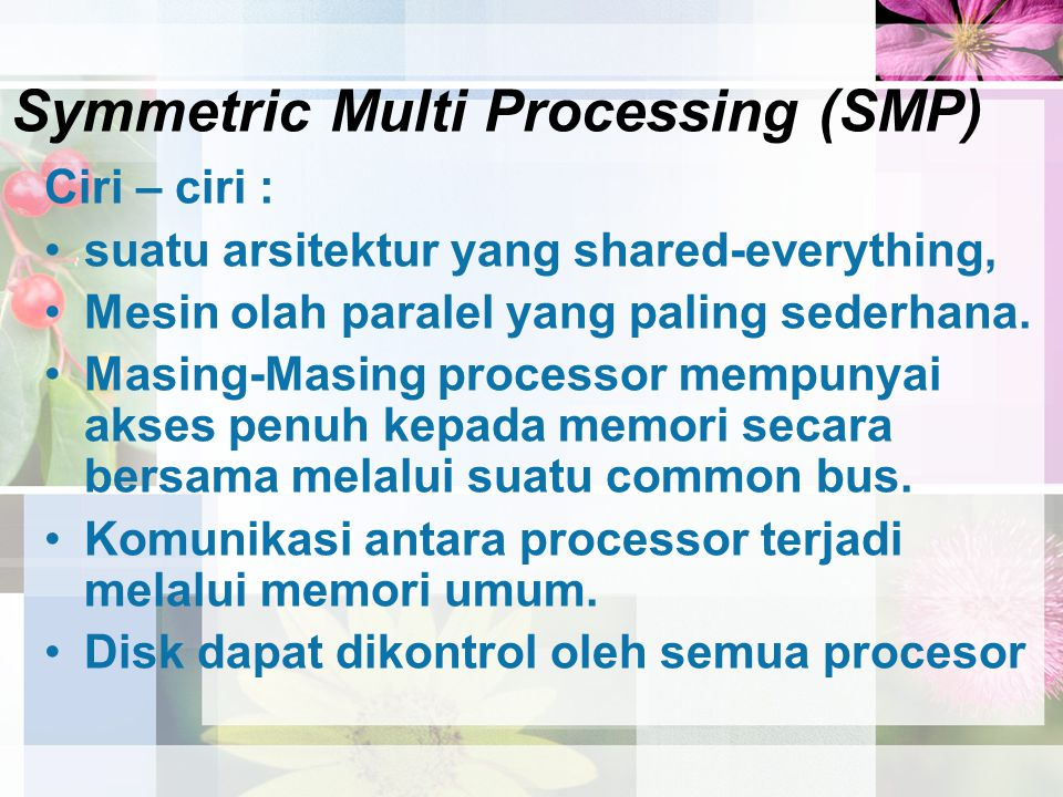 Symmetric Multi Processing (SMP)