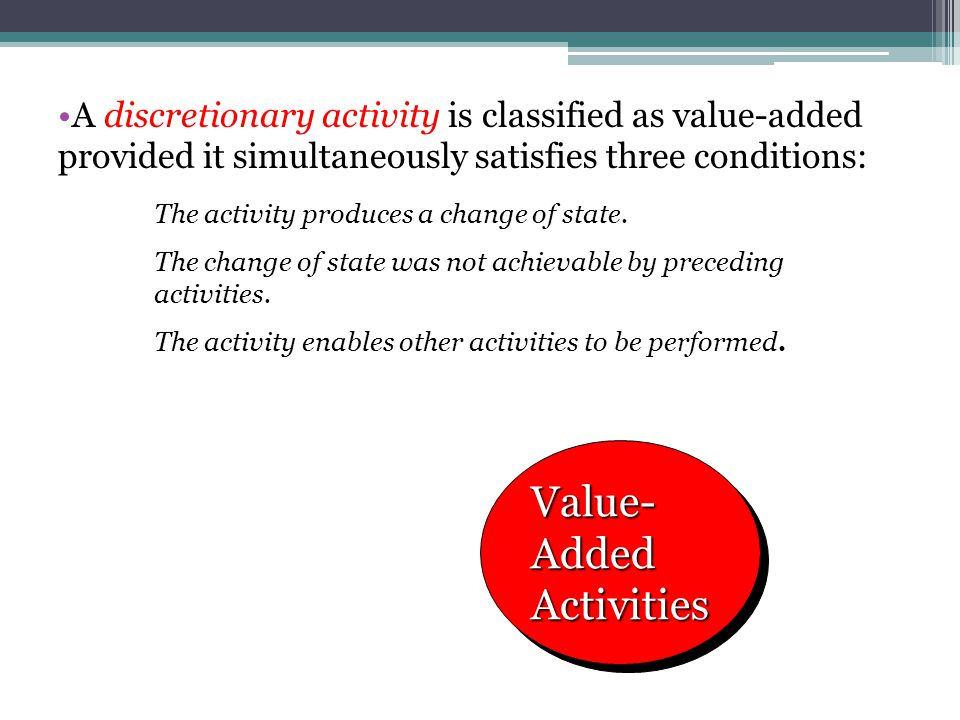Value-Added Activities